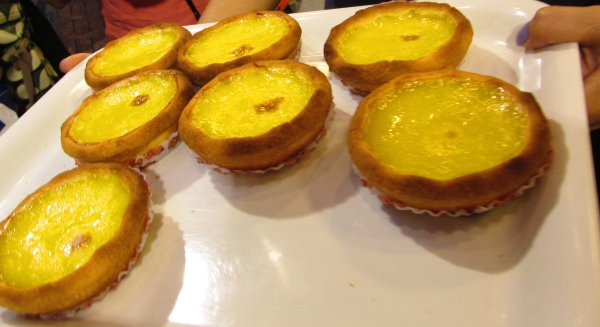 Egg tarts are the fusion of Hong Kong's and Britain's cuisines.  People still enjoy these at tea time.  Photo by: Diana O'Gilvie