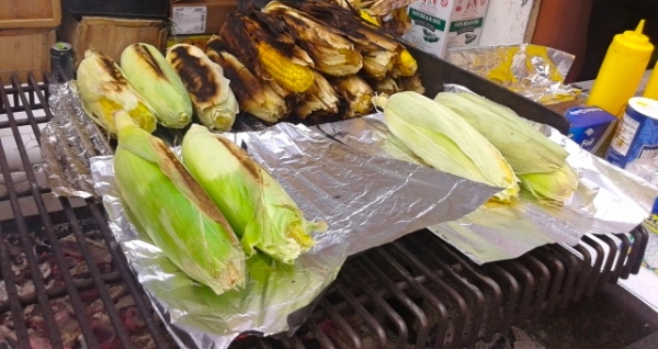 Grilled corn. Photo by Diana O'Gilvie