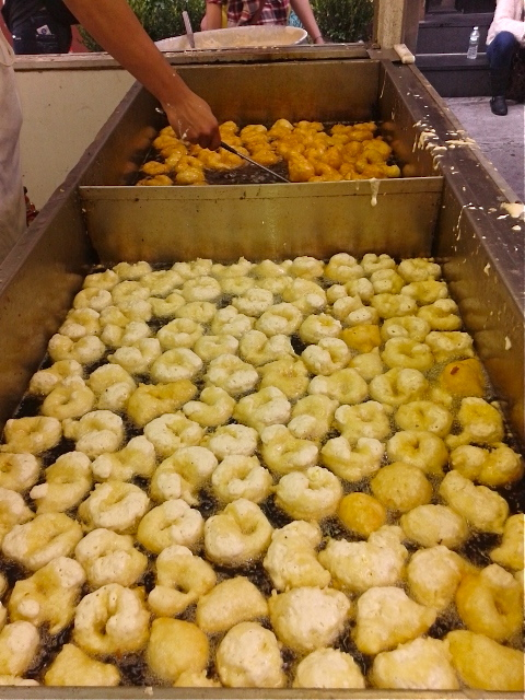 Zeppole getting hot and ready. Photo by Diana O'Gilvie