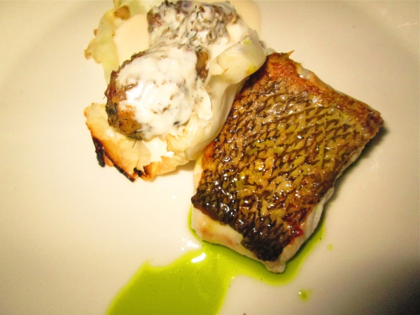 Cod and horseradish with fennel.  Photo by Diana O'Gilvie.