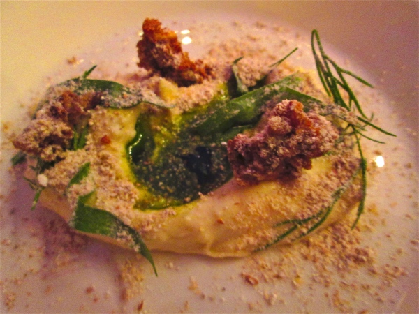 Krondill - Finnish cheese with herbs and rye clusters.  Photo by: Diana O'Gilvie